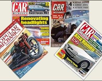 4 Miniature   'CAR'   Magazines  -  Dollhouse 1:6th  1/12th   1/24th   1/48th    scale