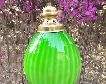 Lámpara de techo Opalina verde / green opaline ceiling lamp