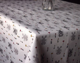 EASTER Linen/Cotton Tablecloth, Linen table top, Linen table cover, Easter Tablecloth