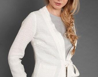LINEN JACKET - JACKET for Spring, Summer, White Linen Jacket, Women Gift
