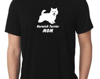 Norwich Terrier Mom T-Shirt T822