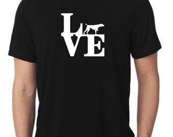 Love German Shorthaired Pointer T-Shirt park gsp dk  T1163
