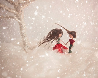 Waldorf Inspired Bendy Doll - Poinsettia Fairy
