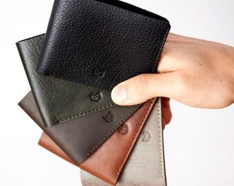 SLIM WALLET Black, gifts for men, Minimalist Wallet, Mens Wallets, Mens gift, Groomsmen Gifts, personalized mens gift, monogram wallet,