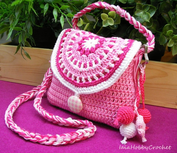 Crochet Little Bag : Crochet Bag, Little Bag, Little Girl Crochet Purse, Crochet purse ...