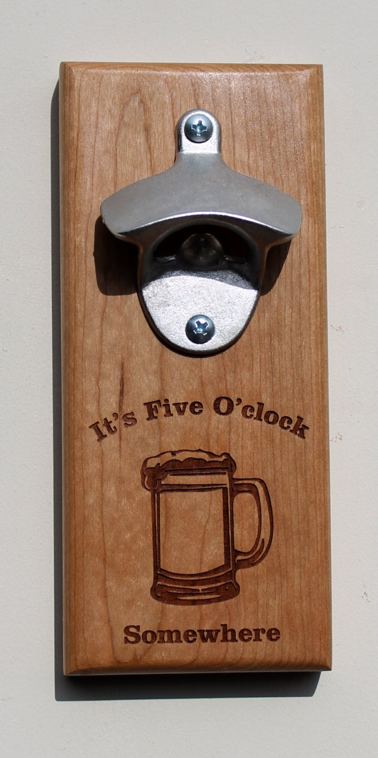 Magnetic or wall mounted bottle opener - Bottle opener wall mount magnet ...