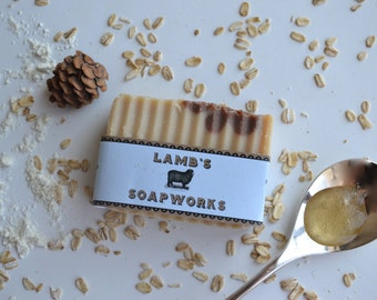 Oatmeal, Almond Milk & Honey Soap Bar-Oatmeal soap, Almond milk soap, Honey soap, Natural soap, Handmade soap, Vegan soap