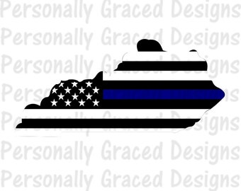 SVG, DXF, EPS Cut file Kentucky State Flag Thin Blue Line svg, Kentucky Svg, Police svg, silhouette cut file, cameo file, Thin Blue Line