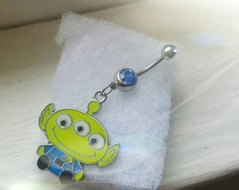 Toy story alien belly ring