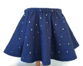 Navy and Lime Eyelet Skirt / Baby Girl Skirt / 3-6 Months / 6-12 Months