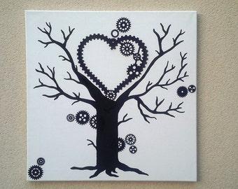 """Fingerprint tree """"steampunk"""""""