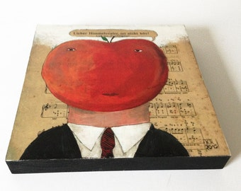 Print on wood »Tomatenkopf«