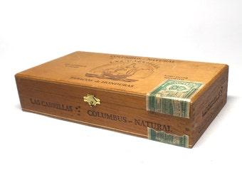 Vintage Las Cabrillas Wooden Cigar Box