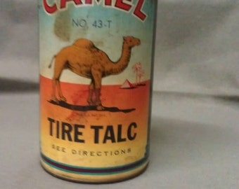 Camel Tire Talc No. 43-T 1946 Container