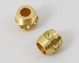 Dreadlocks Dreadbead Brass Simple Art Deco