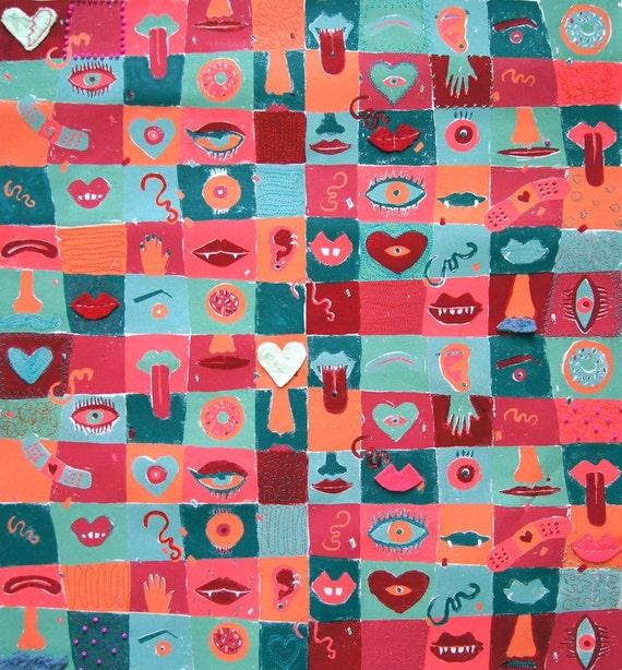 Kissable wall hanging