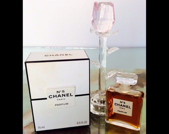 Chanel No 5  .5 oz (15 ml) Parfum Perfume Paris Collectible Fragrance Unused Perfumes Presentation with Original Box French Perfumes