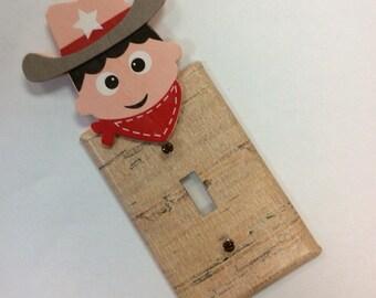 Western Light Switch Cover,Cowboy Bedroom,Cowboy Nursery
