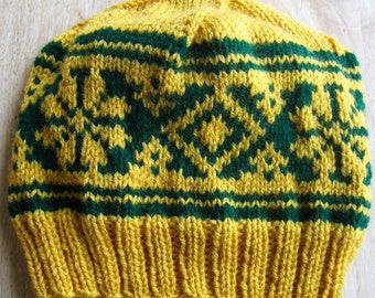 Knit cap that is strenuously pretty