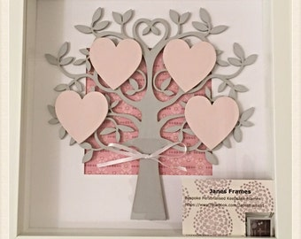 Family Tree 3D Hand Painted Personalised to the highest standard