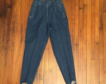 VintageLiz Wear High Waist Stirrup Jeans, Vintage Blue Jeans