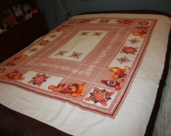 Rose bordered tablecloth