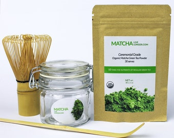 Starter Pack - Ceremonial Grade Organic Matcha - Matcha Live Longer