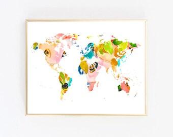 Instant Download Printable Art Digital Print Download World Map Poster Trending Now