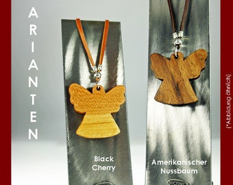 Necklace Angel made of fine woods
