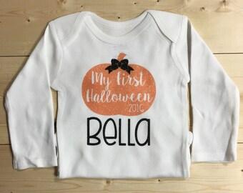 My First Halloween Onesie - Baby Girls First Halloween - Fall Onesie - Halloween Onesie
