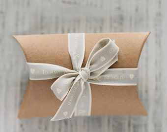 To Have & To Hold Grey Ribbon, Wedding Ribbon, Ribbon, Gift Wrapping, Craft Supplies, Wedding Decorations, Wedding Favours, DIY Wedding