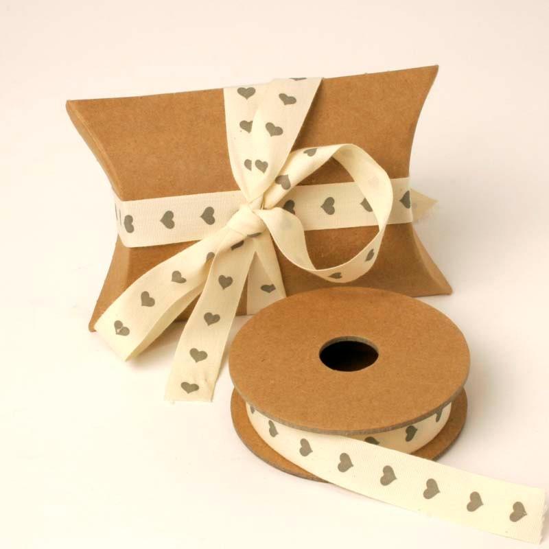Grey heart ribbon cream ribbon heart ribbon wedding for Wedding craft supplies