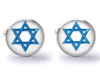 Star of David Cufflinks - Star Cuff Links - Jewish Cufflinks - Religious Cuff Links (Pair) Lifetime Guarantee (S0598)