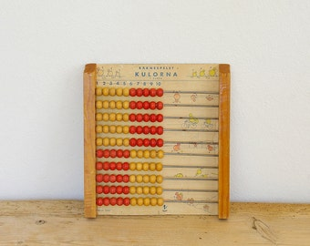 Vintage wood abacus red Swedish. Home decor. Nursery decor. Display decor. Collectible. Vintage school abacus children. Teacher gift