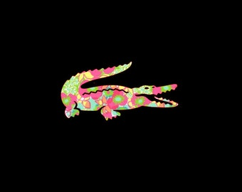 Alligator Inspired Decal, Custom Vinyl Decal,Crocodile, Croc, Gator, Car Decal, Vinyl Decal