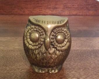 Vintage Owl Figure- Metal