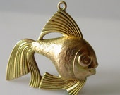 9ct Gold Angel Fish Charm or Pendant