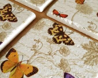 Tile Coasters - Butterflies