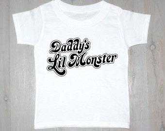 Daddy's Lil Monster Printed Baby Onesies & Kids Tees- Suicide Squad, Harley Quinn Tee
