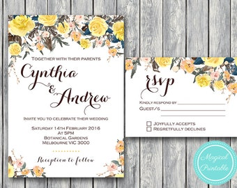 Custom Wedding Invitation Set, Wedding Invitation Printable, Bridal Shower, Baby Shower, Personalized, Wedding Invitation Suite wd98 WI22