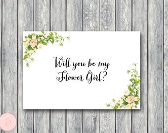 Will You Be My Flower Girl Printable Cards, Wedding Printable, Wedding Cards WD12 TH01