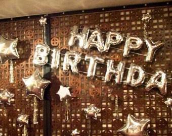 "ON SALE!!! Happy Birthday Balloons 16"" Letter  Alphabet A-Z Balloon ( Wedding Decor & Party Balloon Supplies )"