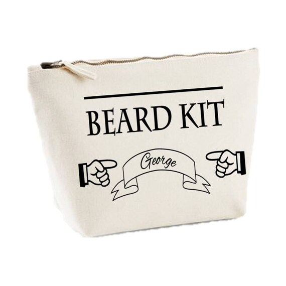 items similar to personalised beard kit canvas mens wash. Black Bedroom Furniture Sets. Home Design Ideas
