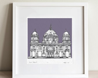 Berlin Cathedral doodle print