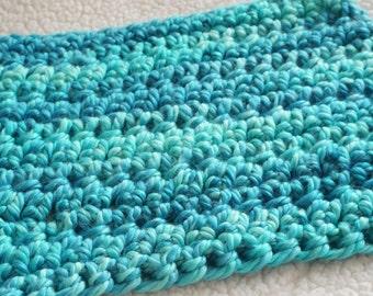 SALE!!!!! Crochet Mini Blanket in Blue Ombre for Newborn Infant Photography Prop, Handmade, Photography Prop, Crochet Blanket