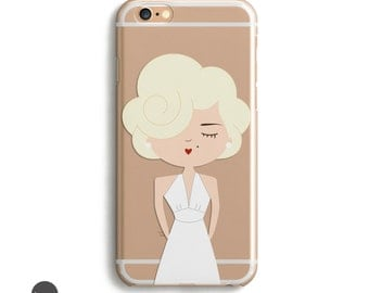 Marilyn Monroe, Iphone 6 Cases, Iphone 5 Case, Clear Iphone Case With Design, Iphone 6 Case Tough, Girly Iphone 5 Case, Bff Gifts // 5,6,7