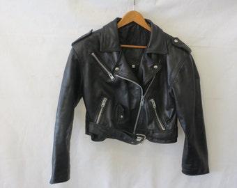 """Biker jacket/ladies jacket/size M/shoulder to shoulder 20""""/armpit to armpit 18""""/sleeve 22"""""""