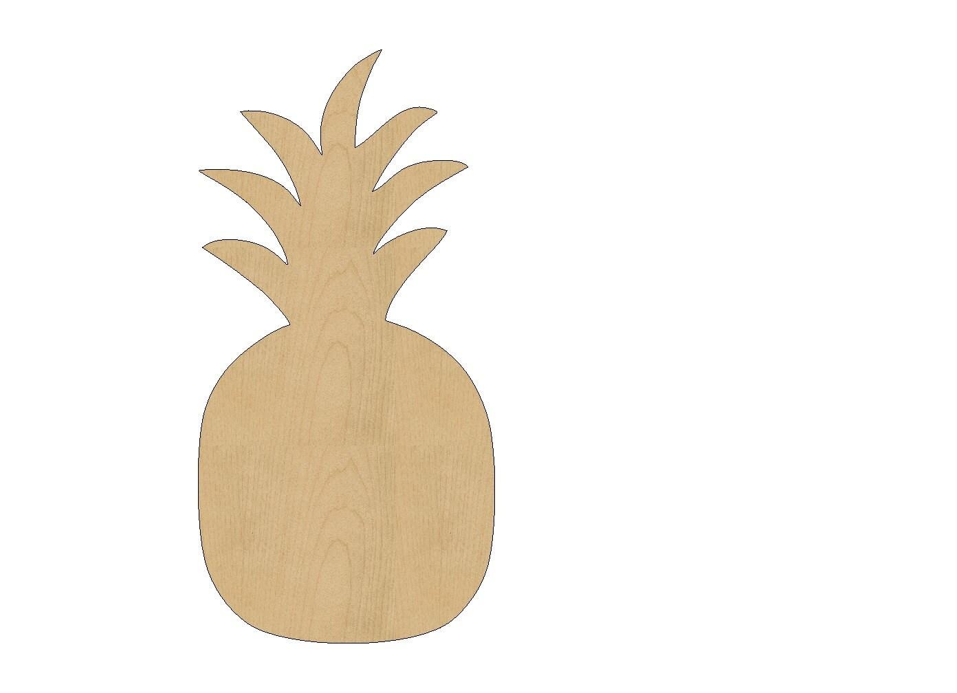 pineapple cutout shape laser cut unfinished wood shapes craft