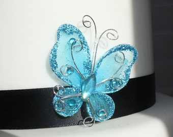 Decorative Blue Butterfly (pk of 12), Craft, Centerpiece, Cake Accents, Dozen, OverTheTopCakeTopper