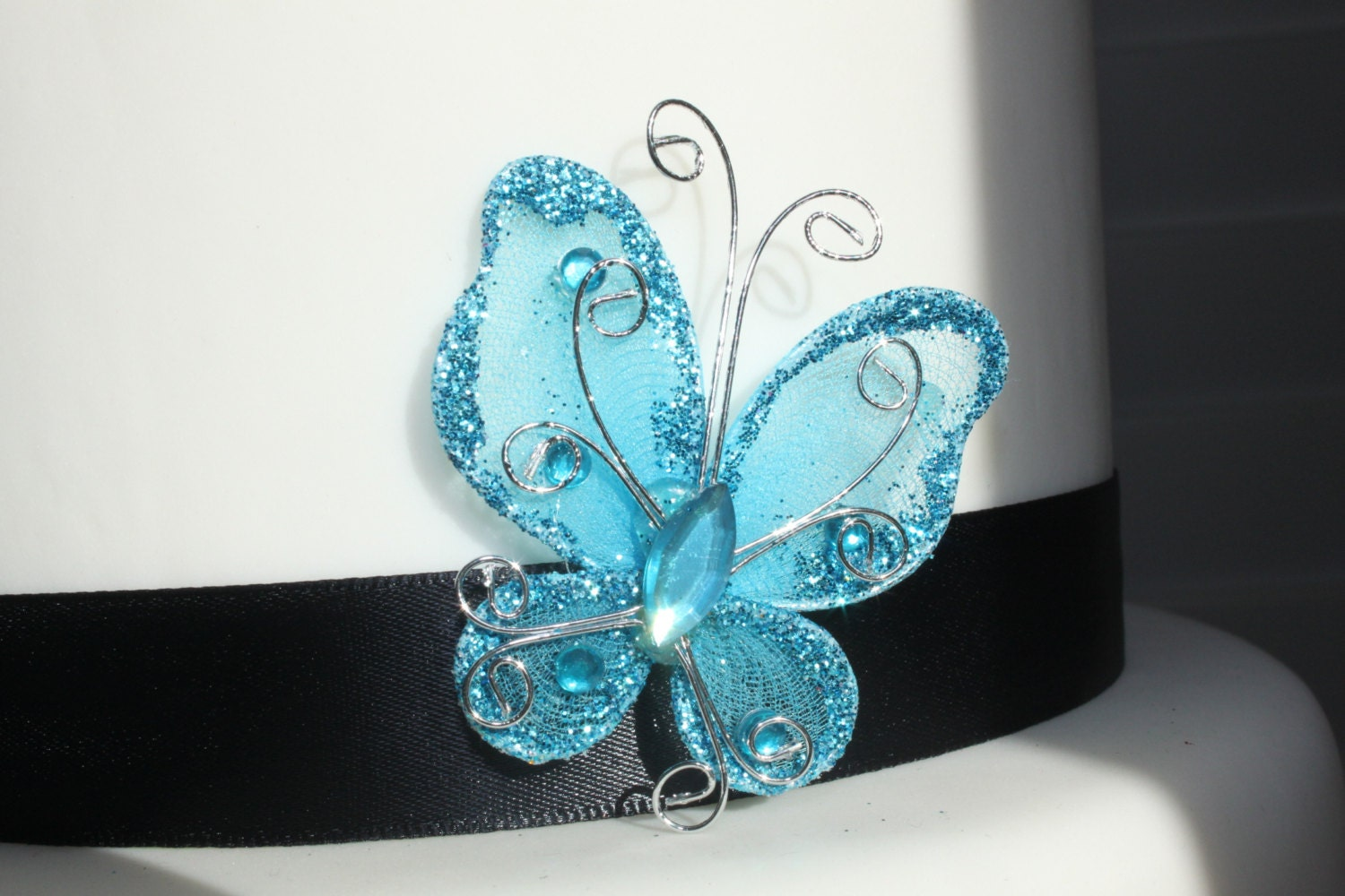 Decorative Blue Butterfly pk of 12 Craft Centerpiece